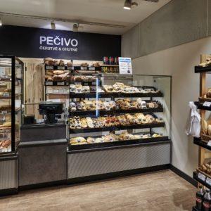 Prodejna pečiva v Praze na Jugoslávské ulici
