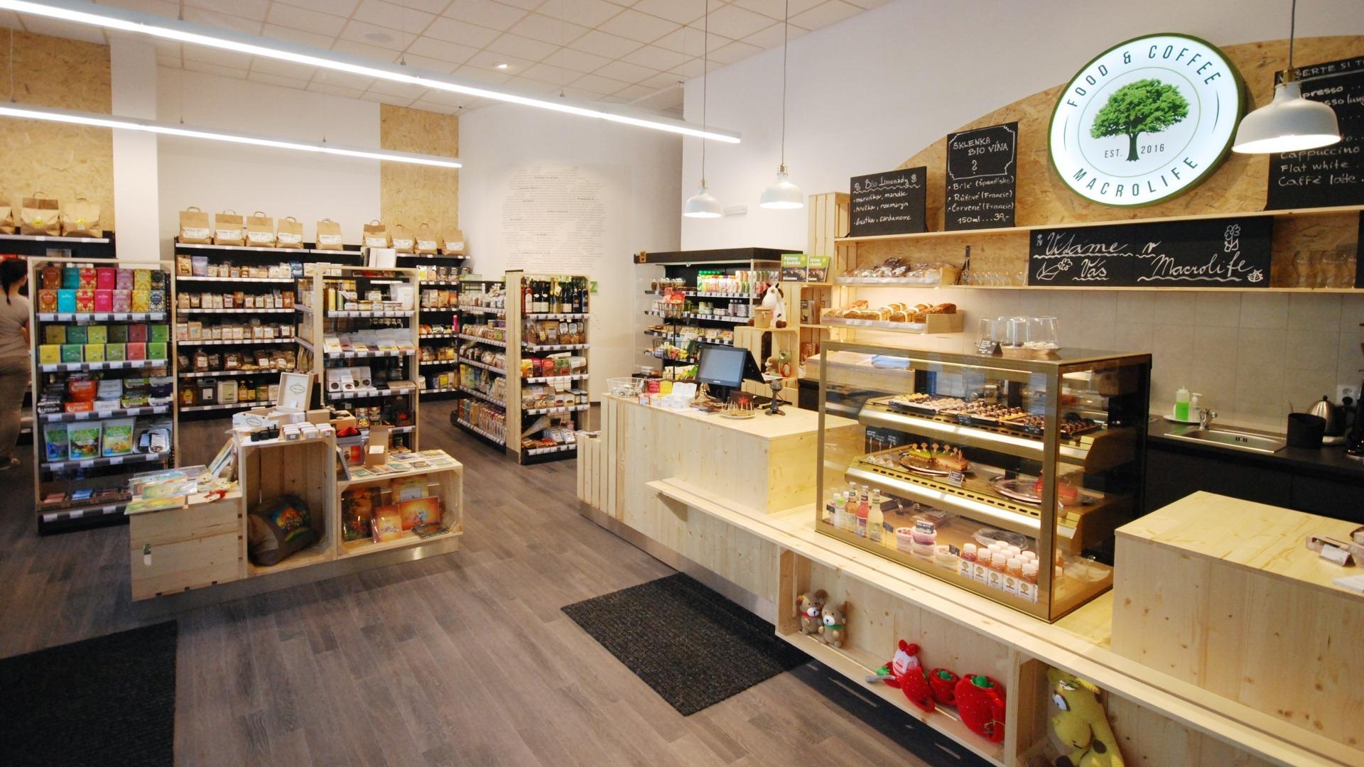 FESCHU BIO Macrolife potraviny a kavarna Louny prodejni pult