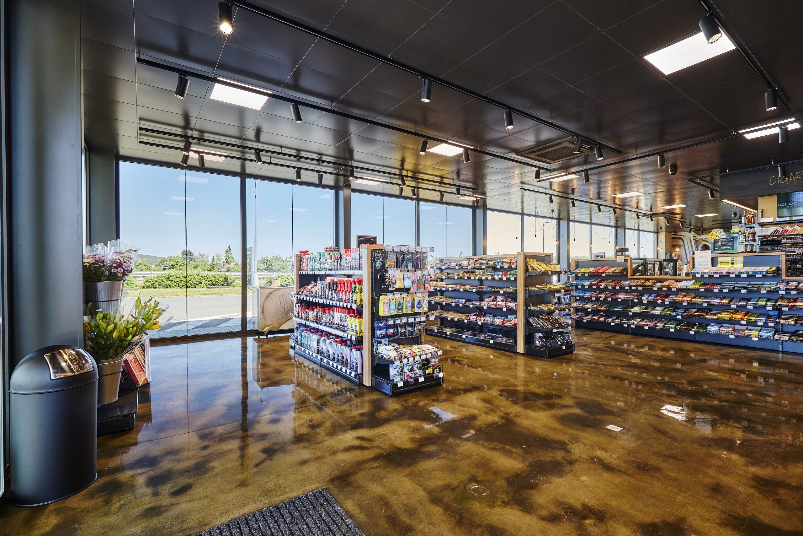 FESCHU Čerpací stanice KOLOC Oil Líšnice prodejna celek