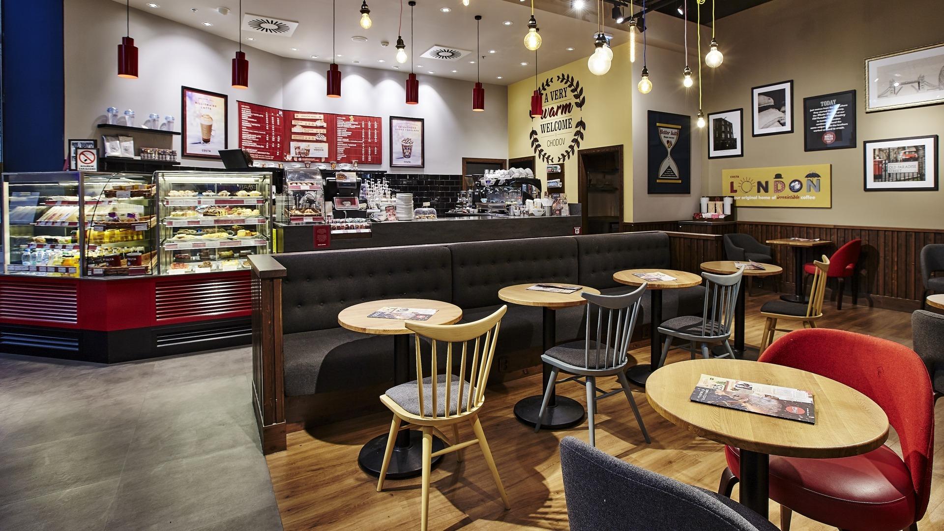 FESCHU Costa Coffee OC Westfield, Praha Chodov celkový pohled