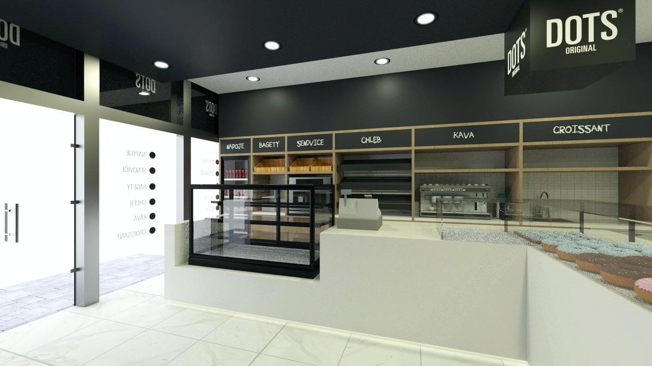 FESCHU Dots 3D návrh pult a regály