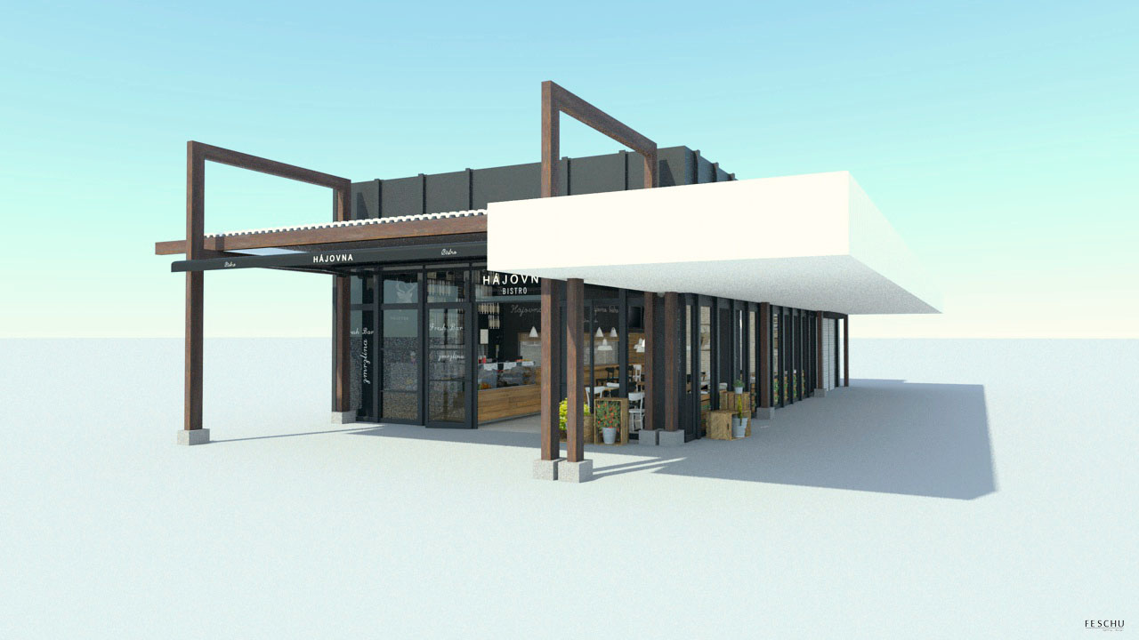 FESCHU restaurace kavarna Hajovna budova celek