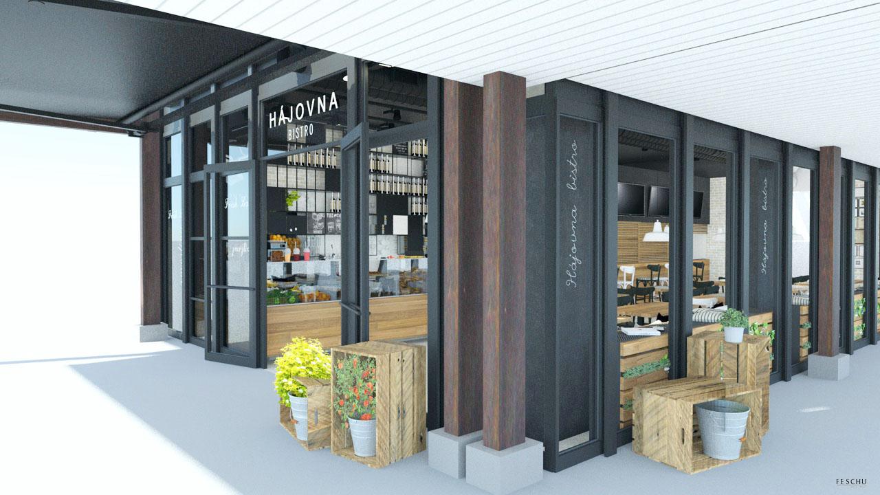 FESCHU restaurace kavarna Hajovna vstup celkovy pohled