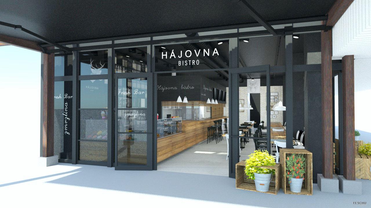 FESCHU restaurace kavarna Hajovna vstup