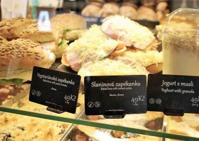 Antonínovo pekařství: vlastní značkové cenovky stiskárnou Edikio