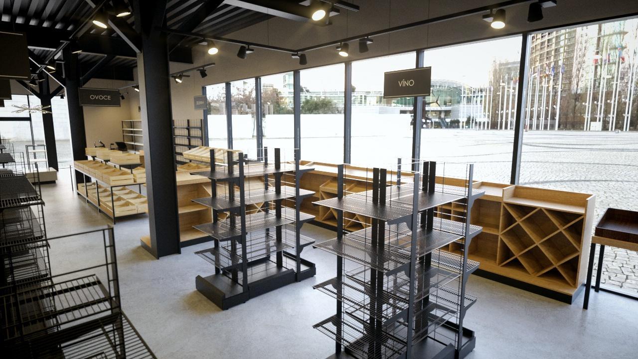 FESCHU Makro Master Shop Zlín regály police prezentační systémy