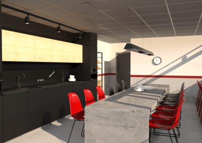 Pekářství acukrářství Sázava, denní místnost vsídle firmy