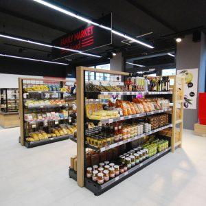 Ragály Wanzl se zbožím v prodejně Family Food Market ve Vyškově