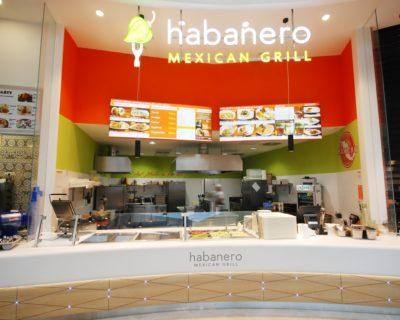 dominantní logo Habanero Mexican Grill - prosvětlené