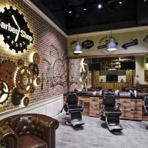 Osvětlení pracovního prostoru Barber shopu Anděl svítidly IMOON Kronos P