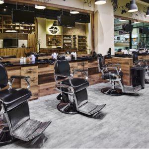Barber shop Anděl - osvětlen svítidly IMOON Kronos P