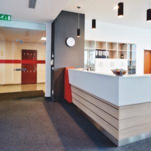 pohled na recepci ve firmě i4wifi v Praze
