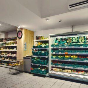 úsek ovoce a zelenina osvětlený světlemi IMOON, prodejna ZKD Sušice