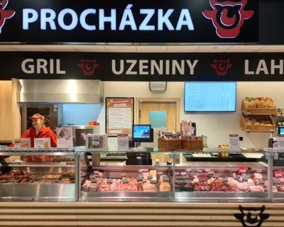 Řeznictví Procházka - rekonstrukce prodejny v Jihlavě