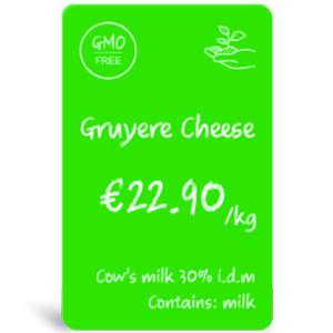 zelená PVC karta